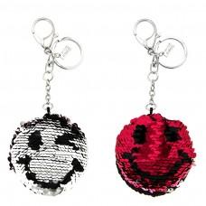 Schlüsselanhänger Smile, silber/fuchsia/schwarz 0